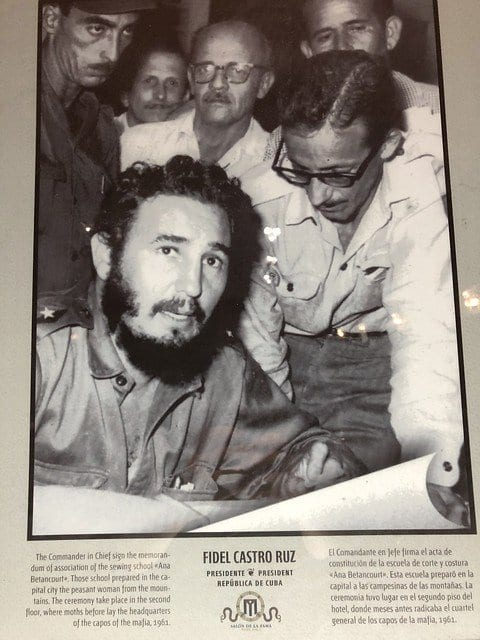 A book cover showing Fidel Alejandro Castro Ruz.